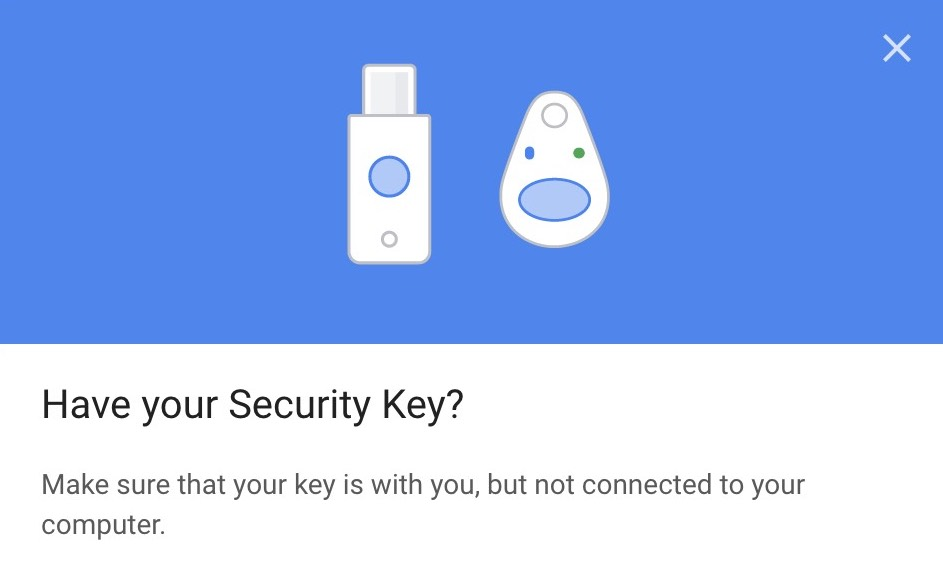 Google grab security key